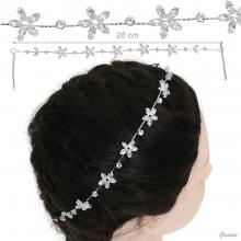 Metal Hair Decoration With Zircon Strass