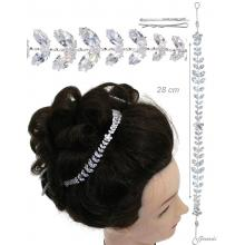 Metal And Zircon Hair Decoration