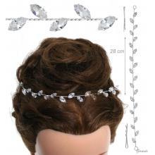 Metal Hair Decoration With Zirconia