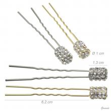 Metal And Strass Hair Pin