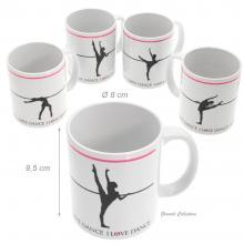 Set With 4 Mug For Female Ballet Dancer