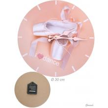 Wall Clock With Ballet Shoes 30cm
