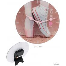 Table Clock With Tennis Shoe And Ballerina Shoe 17cm