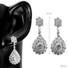 Drop Earrings With White Strass