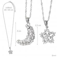 Necklace With Zirconia Pendants