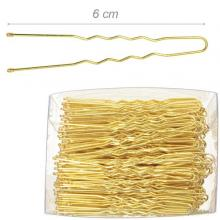 Box Of Gold Colored Bobby Pins 6 Cm