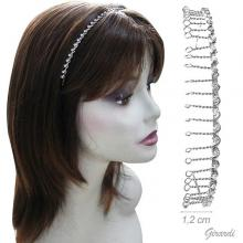 Metal Hairband With Teeth And Strass