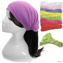 Bandana Headwrap In Solid Color Fabric