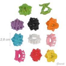 Pinza Mini Fiore Plastic Colorata