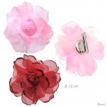 Becco Fiore Di Tulle Rosa con Glitter