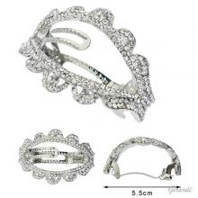 Metal Hair Barrette Clip With Strass