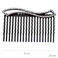Black Hair Comb With White Strass