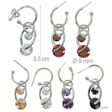 Earrings With Colored Zirconia