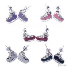 Ice Skates Earrings Glazed