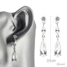 Earrings With Drop Zirconia