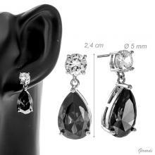 Earrings With Drop Zirconia