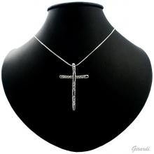 Necklace With Metal Cross And Strass