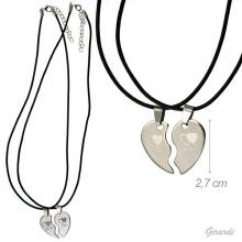 Pair Of Steel Necklaces Love You Pendant
