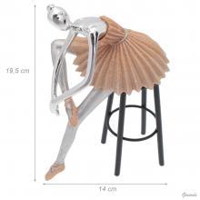 Ballerina Soprammobile Su Sgabello