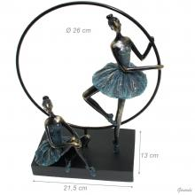 Ornament 2-ballerina And Circle