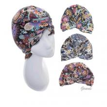 Paisley Pattern Turban In Stretch Fabric