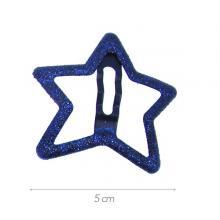 16 - Clic-clac stella metallo glitterato blu scuro