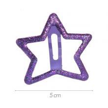 6 - Clic-clac stella metallo glitterato viola